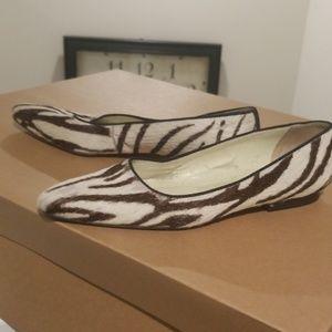 Ralph Lauren zebra print flats